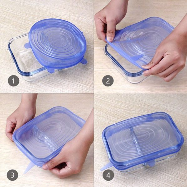 silicone stretch lids gets any shape