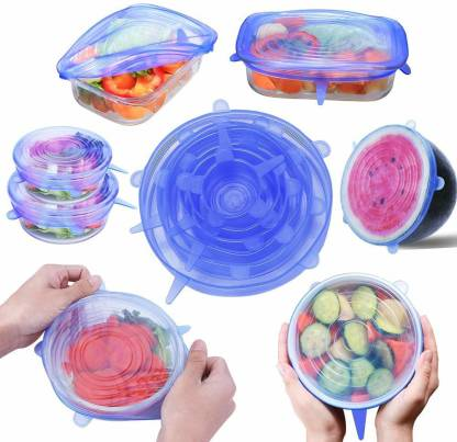 silicone stretch lids keeps all the food fresh