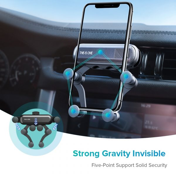 INIU Gravity Car Holder For Phone in Car Air Vent Clip Mount No Magnetic Mobile Phone Holder GPS Stand For iPhone XS MAX Xiaomi 3