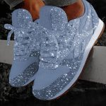 ECN Women Bling Sneakers 2019 Autumn New Casual Flat Ladies Vulcanized Shoes Beathable Lace Up Outdoor Sport Running Shoes 3